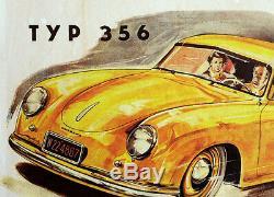 Original Porsche Shows Post Porsche 356 Beginn A 1951 Legend Rare