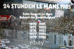 Original Porsche Shows Poster Le Mans From 1970 To 1985 Wins Porsche