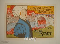 Original Post Master Of The Show Pl 68 Die Alte Stadt Otto Fischer 1897