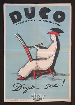 Original Poster 1920 Duco Deja Sec André Girard Laque Enamel Japan Japan Poster