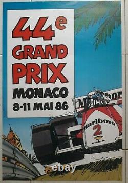 Original Poster 44th Monaco Grand Prix In May 1986 8-11 J. Grognet F1 Formula 1