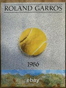 Original Poster Affiche Roland Garros 1986 Jiri Kolar