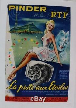 Original Poster Circus Circus Posters Pinder Signed To Rtf Track Stars Ruddy