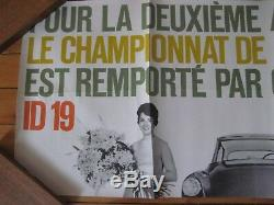 Original Poster Citroen Id19 Ds France Champion Automotive No Brochure