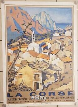 Original Poster Corsica Evisa André Strauss 1927 Vintage Poster A +