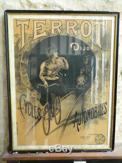 Original Poster Cycles Imp Cars Terrot Dijon Kossuth Post 72cm C. 1900