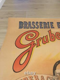 Original Poster Displays 1895 Bouisset Firmin Brasserie Francaise Melun Gruber