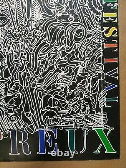 Original Poster Displays Montreux Jazz Festival Bernhard Luginbahl 1990