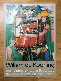 Original Poster From Willem By Kooning Centre Pompidou Paris 1984