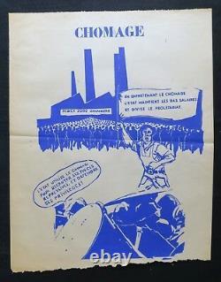 Original Poster May 68 Chomage Prolétariat Tudor Nîmes Poster 1969 279