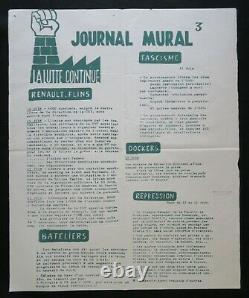 Original Poster May 68 Journal Mural 3 Poster 575