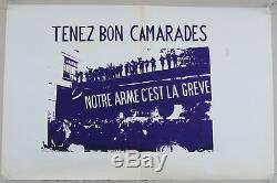 Original Poster May 68 Our Weapon Is The Strike Comrades French Post 1968