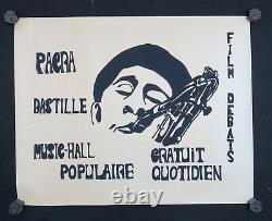 Original Poster May 68 Pacra Bastille Musician Saxo Poster May 1968 207