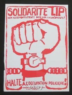 Original Poster May 68 Solidarite Lip Policier Occupation Poster May 1968 624