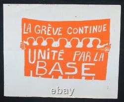 Original Poster May 68 The Greve Continue Unite By The Base Poster 1968 471