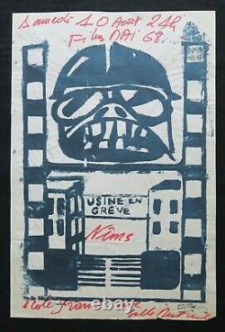 Original Poster May 68 Usine In Greve Film Nimes Brown Poster May 1968 287