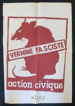Original Poster May 68 Vermine Fasciste Rat Poster 1968 416