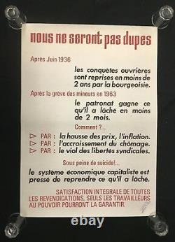 Original Poster May 68 We Will Not Be Fooled French Post May 1968