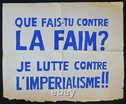 Original Poster May 68 What Do You Do Against The Faim Imperialism Poster 1968 461
