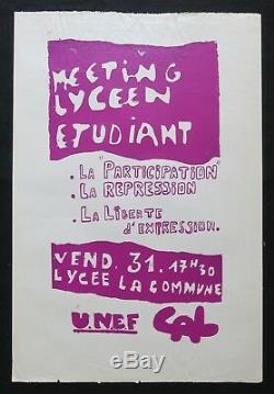 Original Poster Meeting May 68 High School Student Post May 1968 263