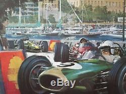 Original Poster Monaco Grand Prix 1968 Edition Michael Turner J. Ramel Nice