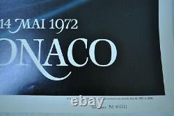 Original Poster Monaco Grand Prix 1972 Of Numbered F1