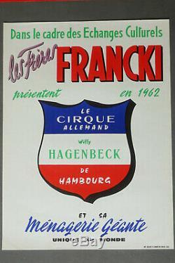 Original Poster Old Circus Francki Brothers Vintage Circus Posters