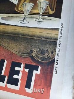 Original Poster Old Kina Lillet Lilet 1904 Dola Old Poster Old