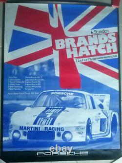 Original Poster Porsche 935 Race 6 H Brands Hatch 1977 Poster 101 CM X 76 CM
