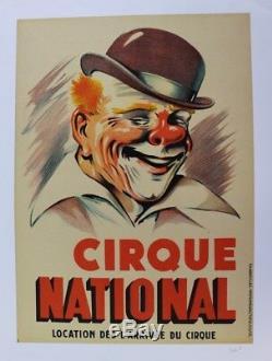 Original Poster Poster Circus Circus Clown National Bowler Augustus