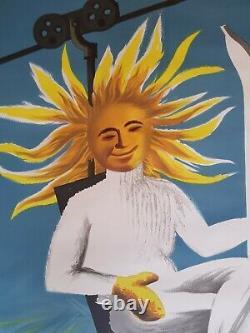 Original Poster Poster Former Ski Join The Sun On A Ski-run In France Dubois
