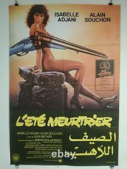 Original Poster Poster Lebanese Lété Assassine Isabelle Adjani 1983