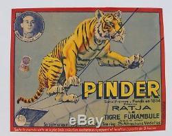Original Shows Circus Circus Pinder Post Ratja Tiger Tightrope Gargas Dompt