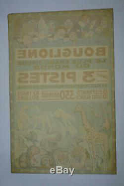 Original Vintage Poster Circus Bouglione, Antique Circus Posters