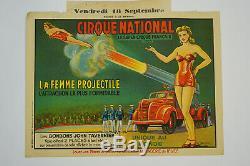 Original Vintage Poster Circus Circus National, Antique Circus Posters