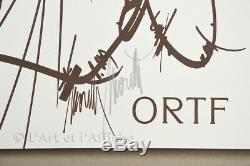 Ortf Free S. O. S. Truth Original Poster Signed May 68 Moretti Vintage Poster