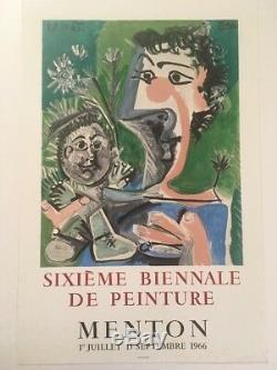 Picasso Exhibition Fine Original Post 1966 Original Poster Unlined