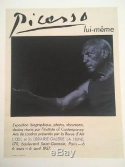 Picasso Post La Hune 1957 Picasso Original Poster