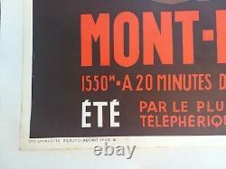Plm Aix Les Bains Revard Poster Old / Original Poster Henry Reb 1935