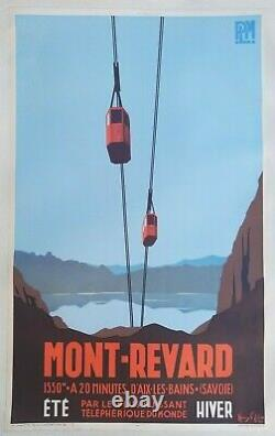Plm Aix The Baths Revard Poster Old/original Poster Henry Reb 1935