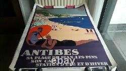 Plm Poster Roger Broders Antibes 1928 Original Poster