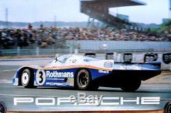 Porsche Original Race Poster Post Le Mans 1983 Victory 956 Rothmans