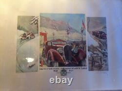 Poster Geo Ham Rally International Monte Carlo 193233 34 Litho Illustrated