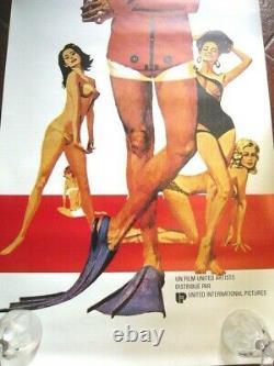 Poster James Bond Operation Thunder Movie Poster Thunderball 1965 Ed Original