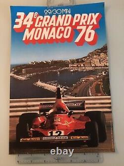 Poster Original Poster Grand Prix Monaco F1 Formula 1 1976