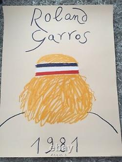 Poster Poster Roland Garros 1981 Perfect Original State Eduardo Arroyo