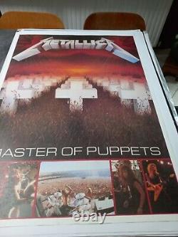 Poster Vintage Original Ultra Rare! Metallica Master Of Puppets