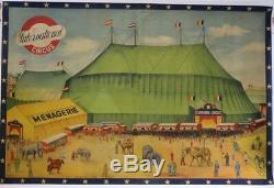 Print Original Cirque Circus Post Chapiteau Barnum 240x160 CM Ménagerie