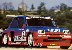 Rare Original Poster Championnat France Superproduction 1987 Renault 5 Turbo