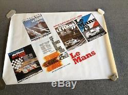 Rare Original Poster Porsche At Le Mans 24h